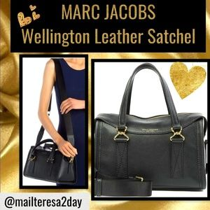 💖NWT MARC JACOBS  Wellington Leather Satchel